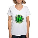 Earth Day, Technical Women's V-Neck T-Shirt
