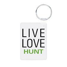 Live Love Hunt Aluminum Photo Keychain