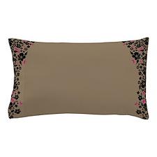 Floral Butterfly mocha Pillow Case