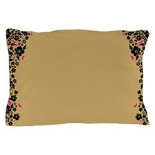 Floral Butterfly gold Pillow Case