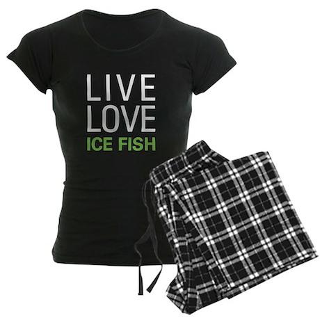Live Love Ice Fish Women's Dark Pajamas