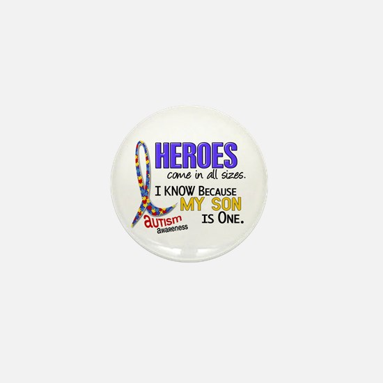 Heroes All Sizes Autism Mini Button