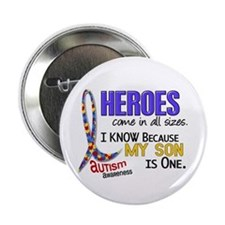 "Heroes All Sizes Autism 2.25"" Button"