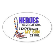 Heroes All Sizes Autism Bumper Stickers