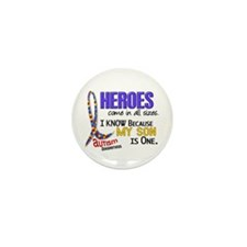 Heroes All Sizes Autism Mini Button (10 pack)