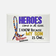 Heroes All Sizes Autism Rectangle Magnet (10 pack)