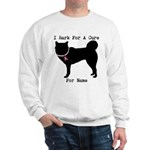 Siberian Husky Personalizable I Bark For A Cure Sw