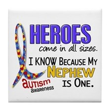 Heroes All Sizes Autism Tile Coaster