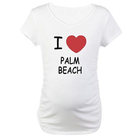 I heart palm beach Maternity T-Shirt