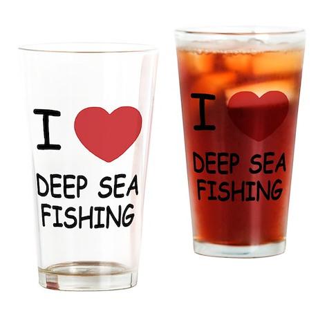 I heart deep sea fishing Drinking Glass