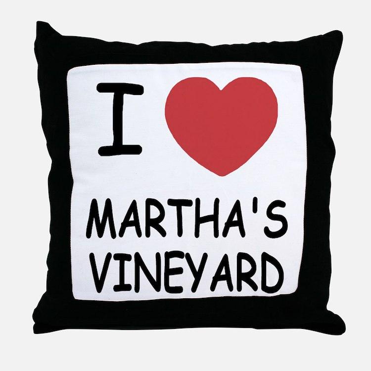 I heart martha's vineyard Throw Pillow