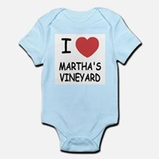 I heart martha's vineyard Infant Bodysuit