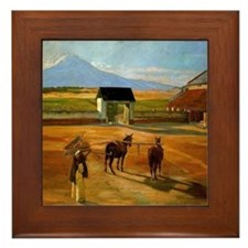 Diego Rivera Painting Era Art Framed Tile