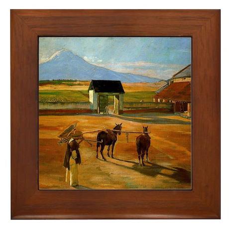 Diego Rivera Painting Era Art Framed Tile