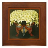 Diego rivera art Framed Tiles