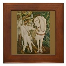 Diego Rivera Emiliano Zapata Art Framed Tile