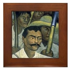 Diego Rivera Art Framed Tile - Emiliano Zapata