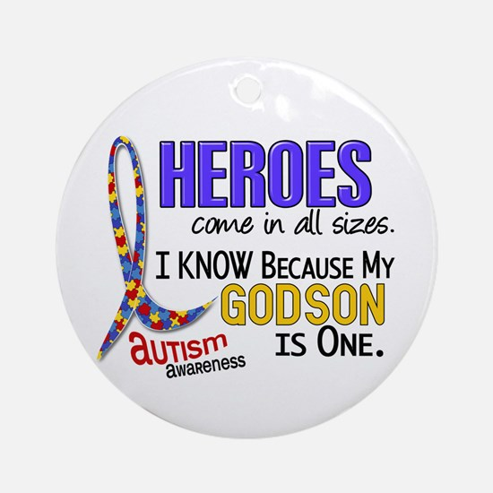 Heroes All Sizes Autism Ornament (Round)