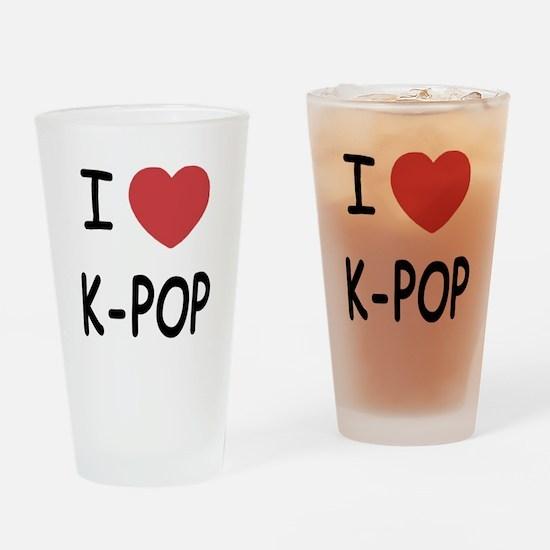 I heart k-pop Drinking Glass