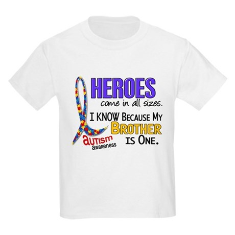 Heroes All Sizes Autism Kids Light T-Shirt