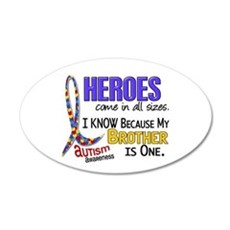 Heroes All Sizes Autism 22x14 Oval Wall Peel