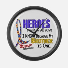 Heroes All Sizes Autism Large Wall Clock