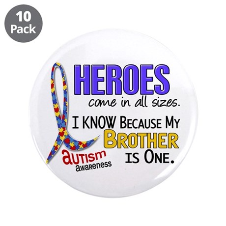 """Heroes All Sizes Autism 3.5"""" Button (10 pack)"""