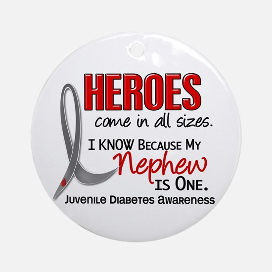 Heroes All Sizes Juv Diabetes Ornament (Round)