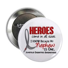 """Heroes All Sizes Juv Diabetes 2.25"""" Button (10 pac"""