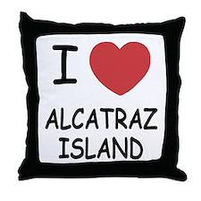 I heart alcatraz island Throw Pillow