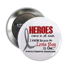 """Heroes All Sizes Juv Diabetes 2.25"""" Button"""