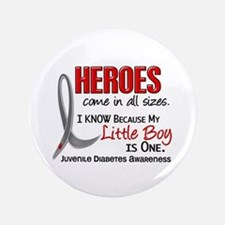 "Heroes All Sizes Juv Diabetes 3.5"" Button"