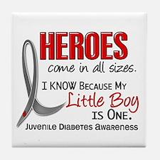 Heroes All Sizes Juv Diabetes Tile Coaster