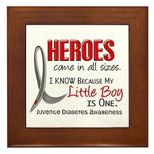 Heroes All Sizes Juv Diabetes Framed Tile