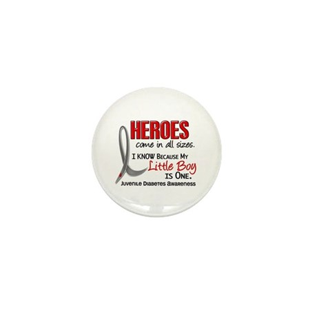 Heroes All Sizes Juv Diabetes Mini Button (100 pac
