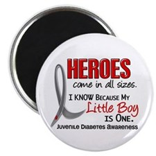"Heroes All Sizes Juv Diabetes 2.25"" Magnet (10 pac"