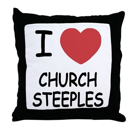 I heart church steeples Throw Pillow