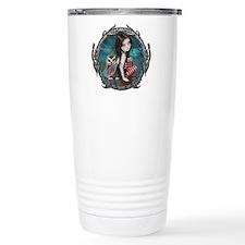 Autumn Owl and Fairy Travel Coffee Mug