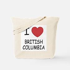 I heart british columbia Tote Bag