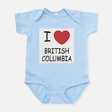 I heart british columbia Infant Bodysuit