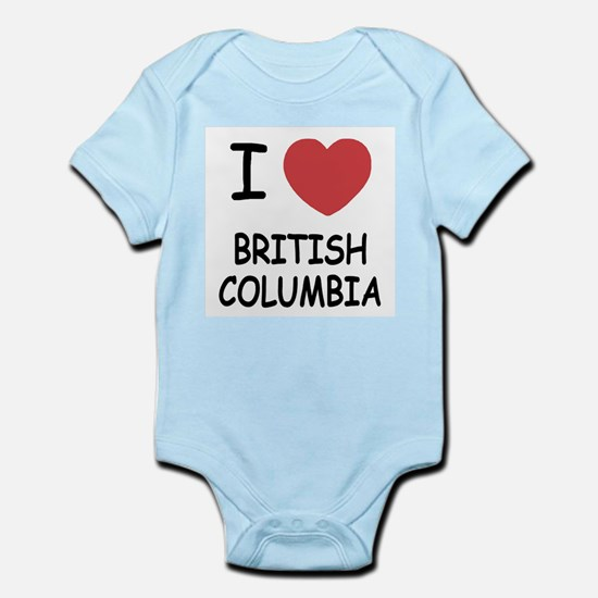I heart british columbia Infant Bodysuit
