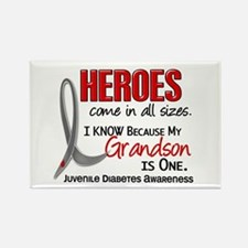 Heroes All Sizes Juv Diabetes Rectangle Magnet