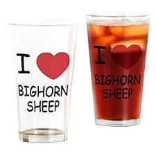 I heart bighorn sheep Drinking Glass