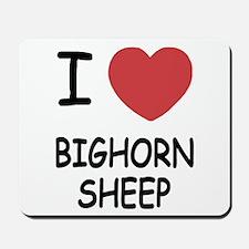 I heart bighorn sheep Mousepad