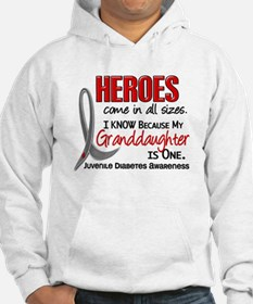 Heroes All Sizes Juv Diabetes Jumper Hoody