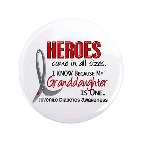 "Heroes All Sizes Juv Diabetes 3.5"" Button (100 pac"