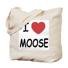 I heart moose Tote Bag