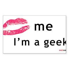 Kiss Me I'm a Geek Decal