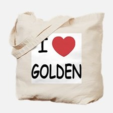I heart golden Tote Bag