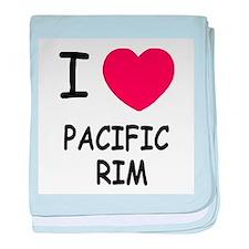 I heart pacific rim baby blanket